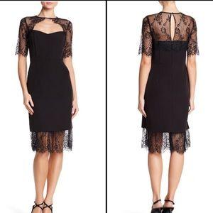 NANETTE nanette lepore Elbow Sleeve Lace Dress